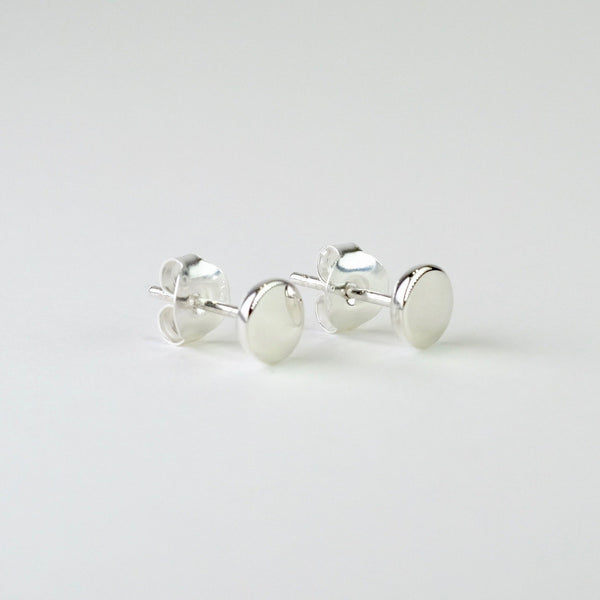 Flat Round Stud Earrings by JB Designs.