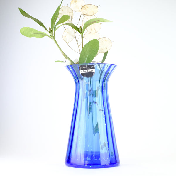 Dartington Glass Deep Blue Little Gems Vase.