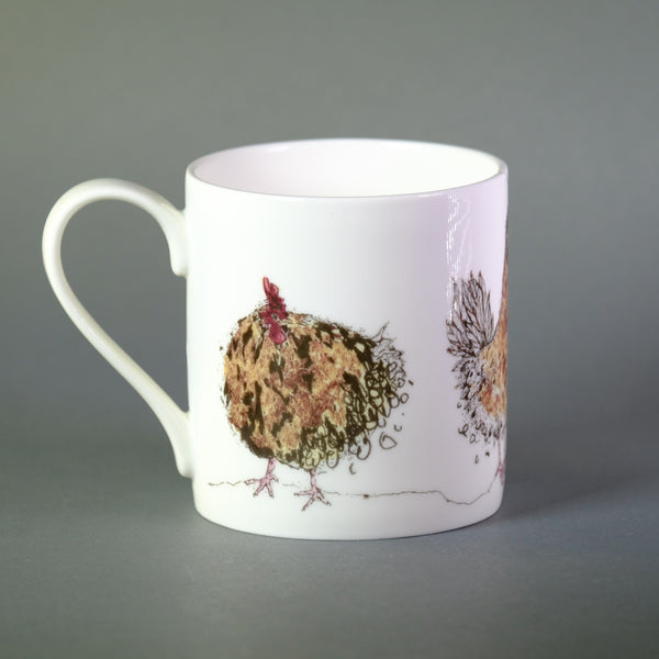 Anna Wright 'The Golden Ladies ' Chicken Bone China Mug.