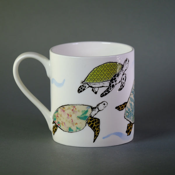 Anna Wright 'Splish Splosh 'Turtle Bone China Mug.
