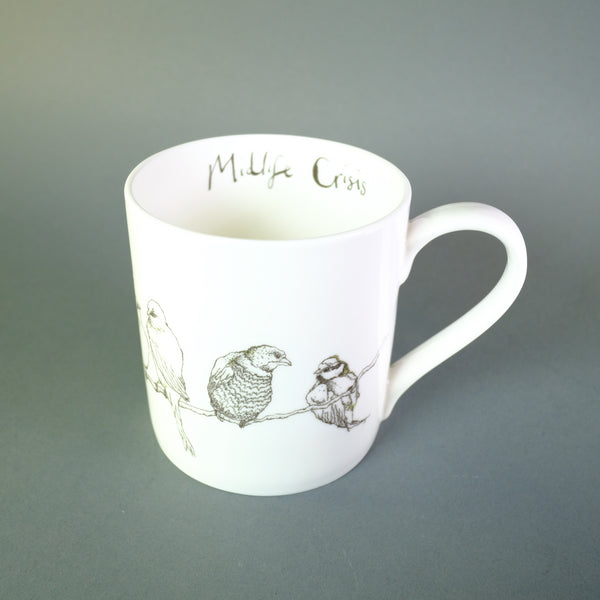 Anna Wright 'Midlife Crisis' Bone China Mug.