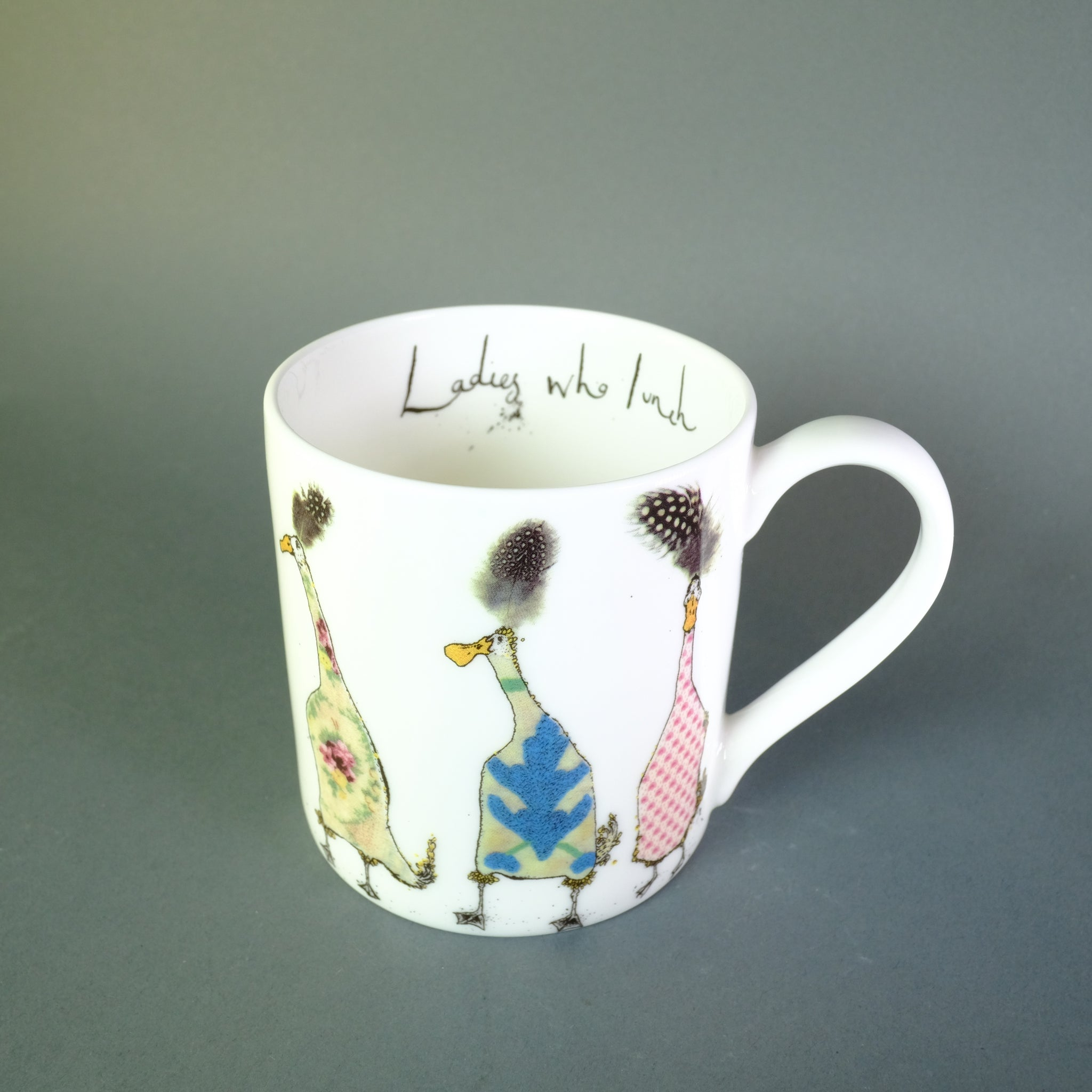 Anna Wright 'Ladies who Lunch' Bone China Mug.