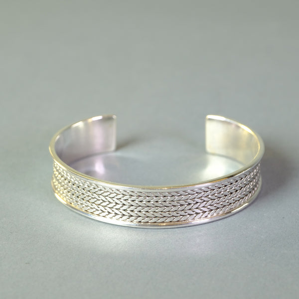Sterling Silver Torque Bangle.