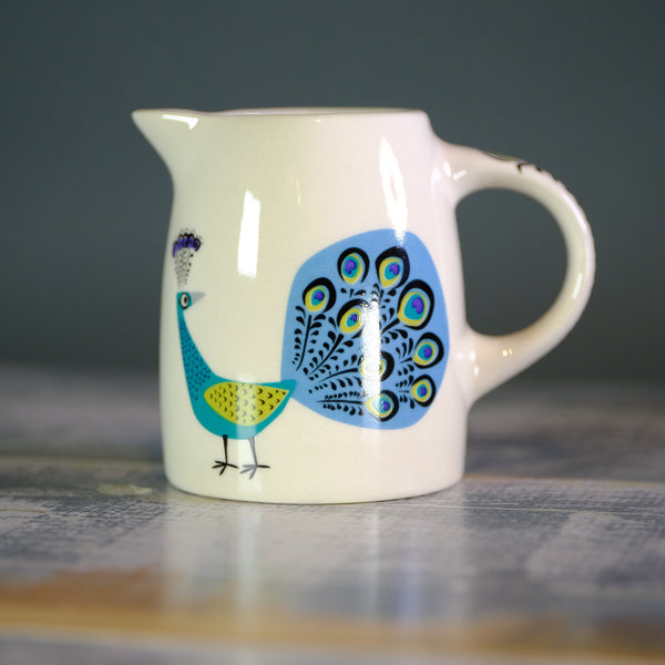 Baby Peacock Jug by Hannah Turner.