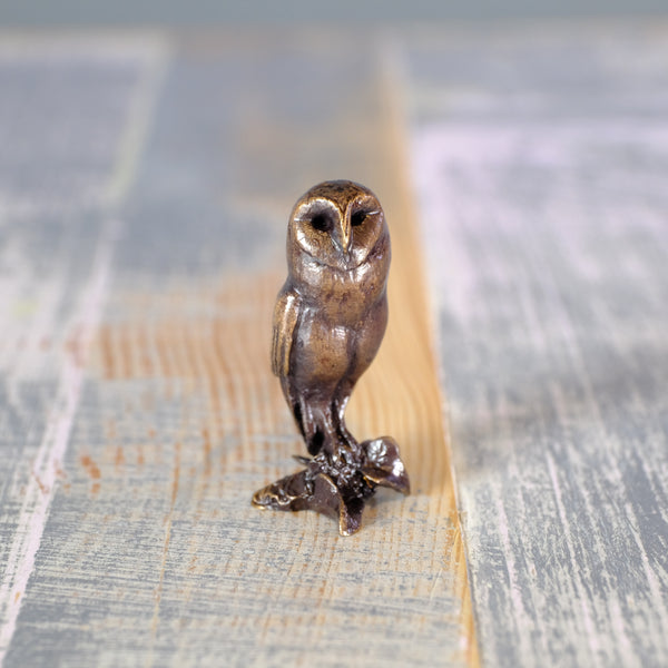 'Barn Owl' Miniature Bronze.