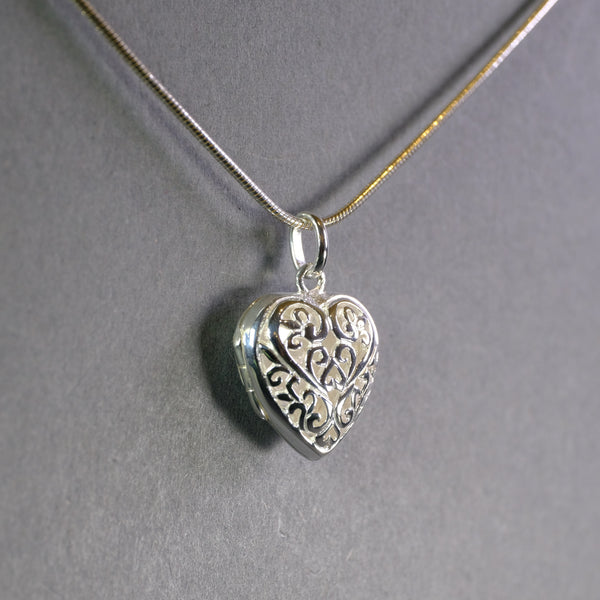Silver Heart Locket.
