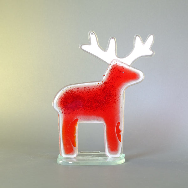 Fused Glass Reindeer, Small.