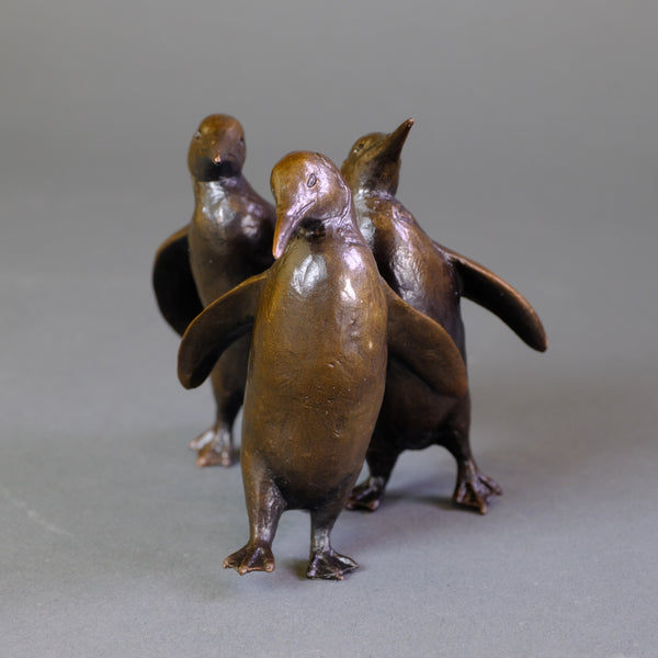 Bronze 'Three Penguins' by Michael Simpson