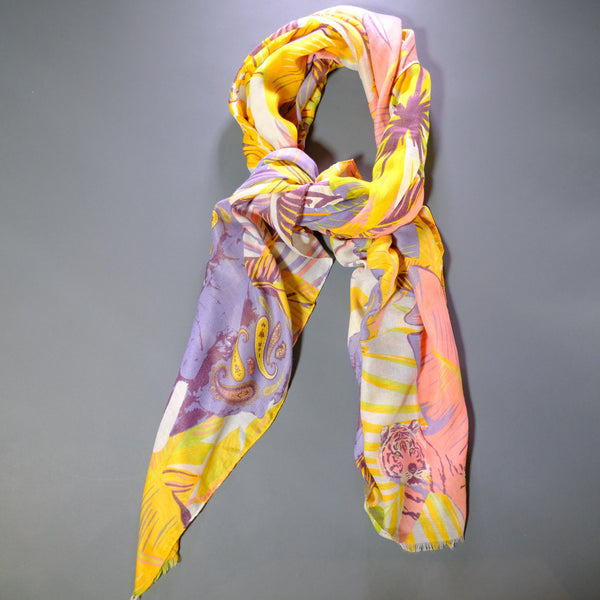 Printed Elephant Design Scarf.