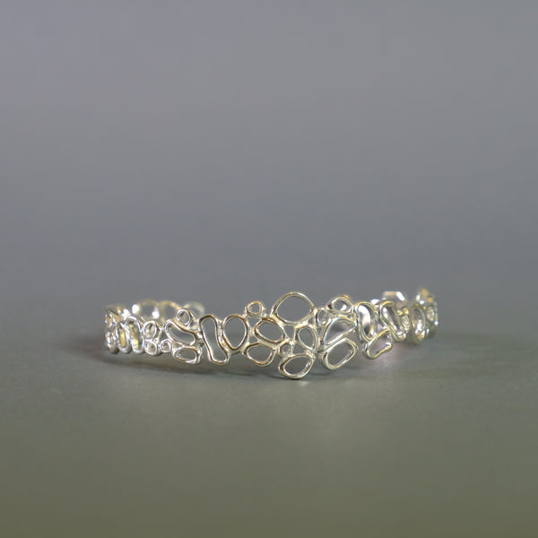 Sterling Silver Design Bangle Bracelet.