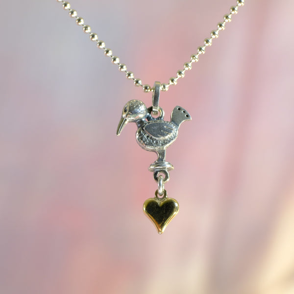 Handmade Silver by Nick Hubbard 'Thief of Hearts' Pendant.