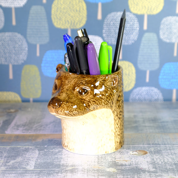 Ceramic 'Otter' Pen Pot .