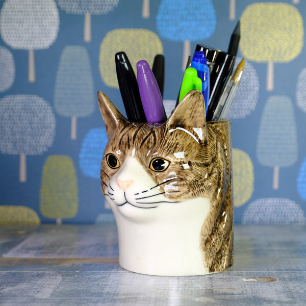 Ceramic 'Millie Cat' Pot by Quail.