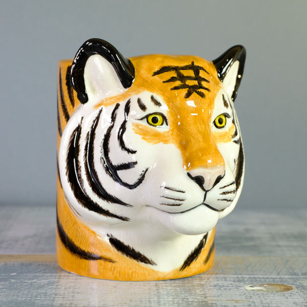 Ceramic 'Tiger' Pencil Pot by Quail.