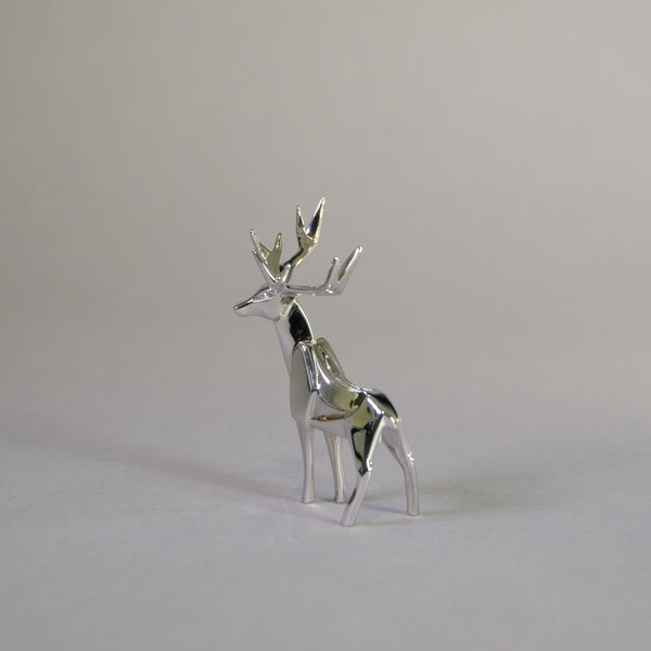 Sterling Silver Mini Deer Sculpture by Nomi Design
