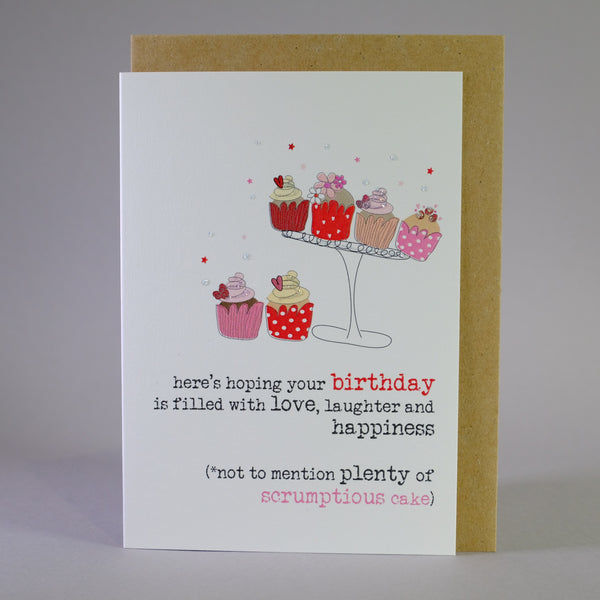 'Scrumptious Cake' Birthday Card.