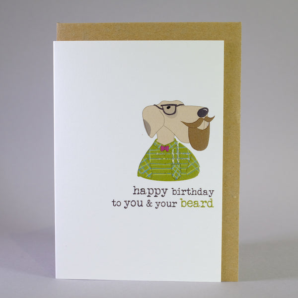 'Beard' Birthday Card.