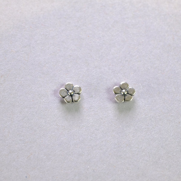 Little Silver Flower Stud Earrings.