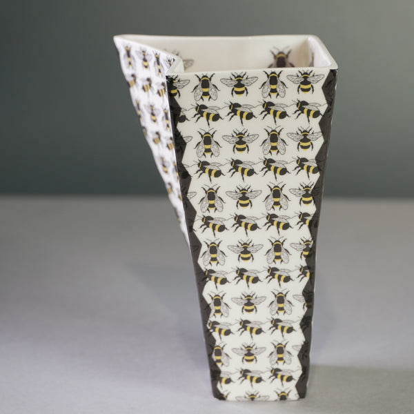 Handmade Bee Vase by Georgina Fowler.