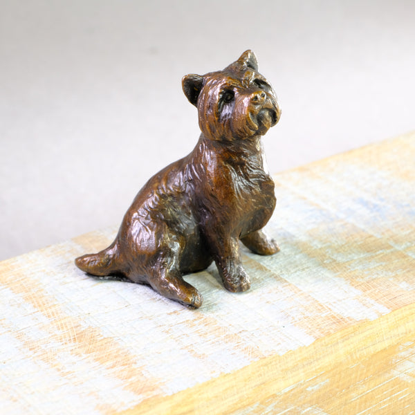 Bronze 'Westie Sitting' by Michael Simpson
