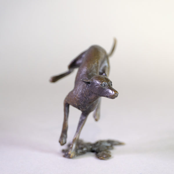 Bronze 'Lurcher' by Michael Simpson.