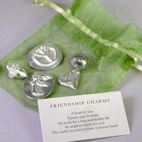 Bagged Pewter Tokens 'Friendship Charms'