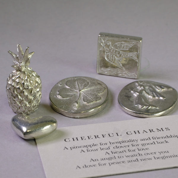Bagged Pewter Tokens 'Cheerful Charms'