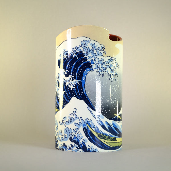 Hokusai 'The Great Wave off Kanagawa' Design Vase.
