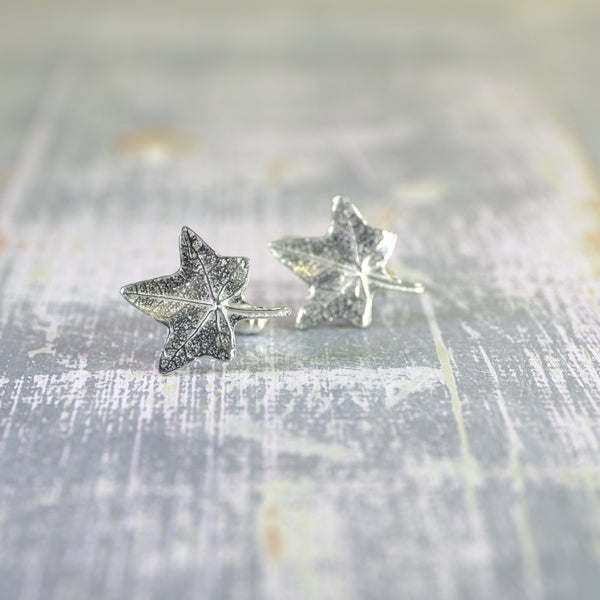 Pewter Maple Leaf Design Cufflinks.