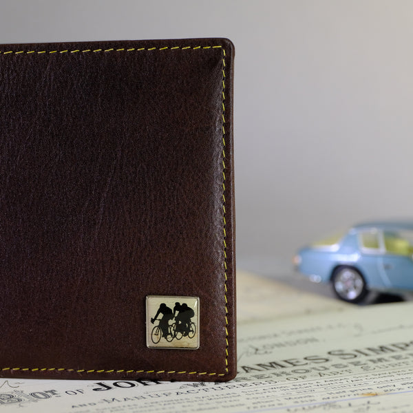 Brown Leather Jeans Wallet - Racing cyclists.