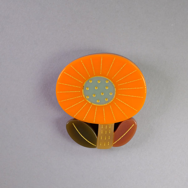 Resin Flower Brooch.
