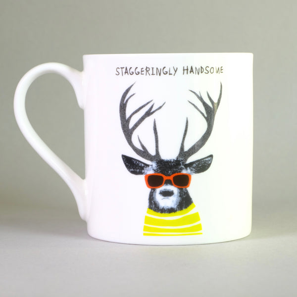 Bone China 'Staggeringly Handsome' Mug by Sally Scarffadi