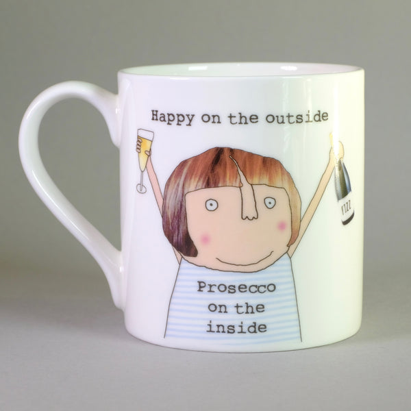 'Happy on the Outside' by Rosie Made a Thing,Bone China Mug.