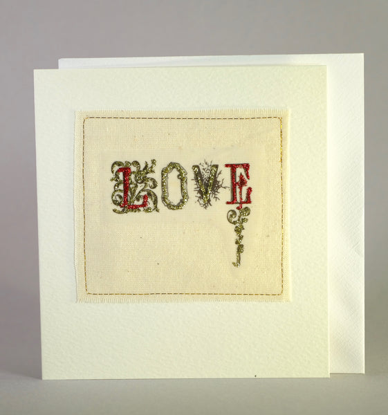 Love Embroidered Card.