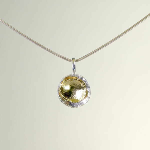 Silver and Gold Plated Pendant by LBJ Designs.