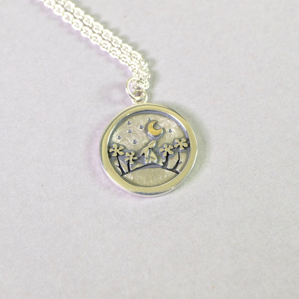 Linda Macdonald Handmade Silver 'A Penny for Your Thoughts' Pendant.