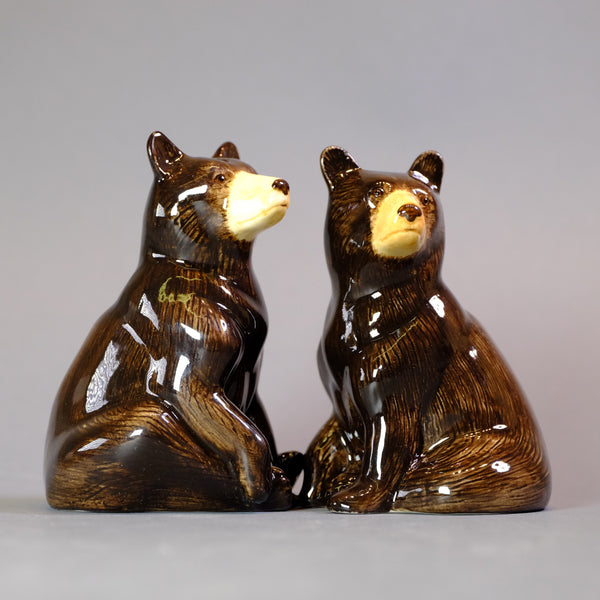 Ceramic 'Black Bear' Salt and Pepper Set by Quail
