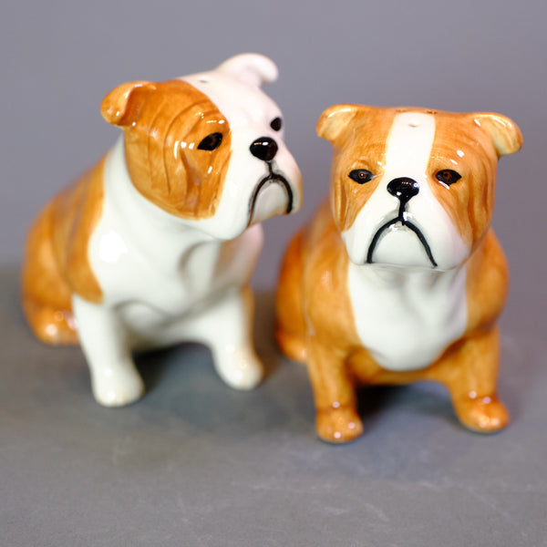 Ceramic 'English Bulldog' Salt and Pepper Set by Quail