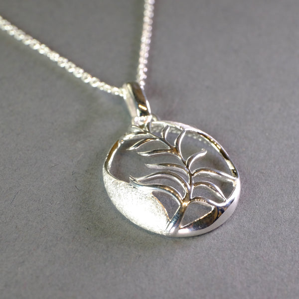 Sterling Silver Fern Pendant by 'Unique'
