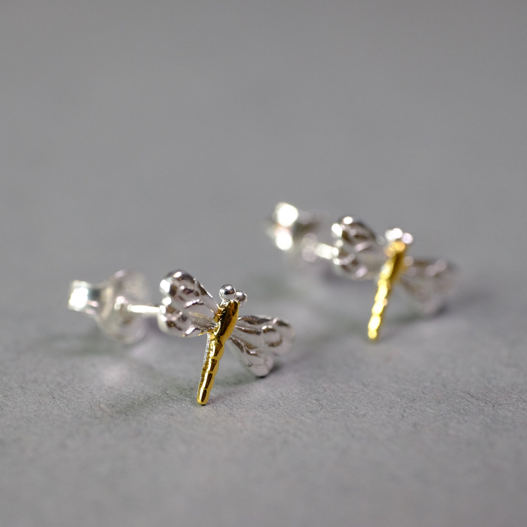 Dragonfly Stud Earrings by 'Sea Gems'