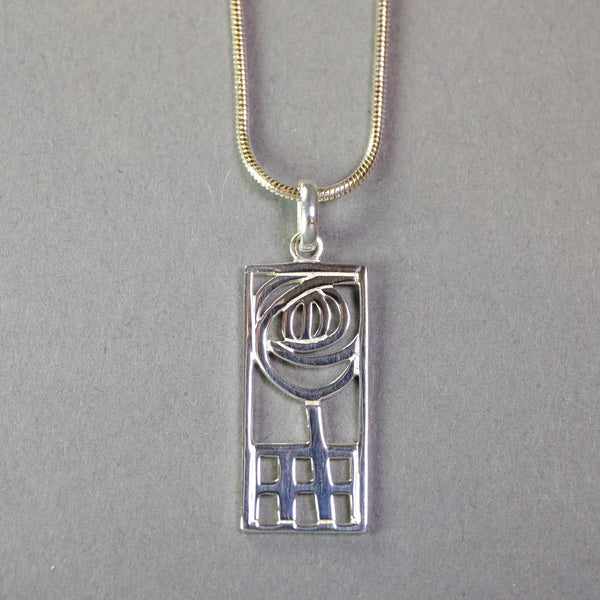 Silver Mackintosh Design Pendant.