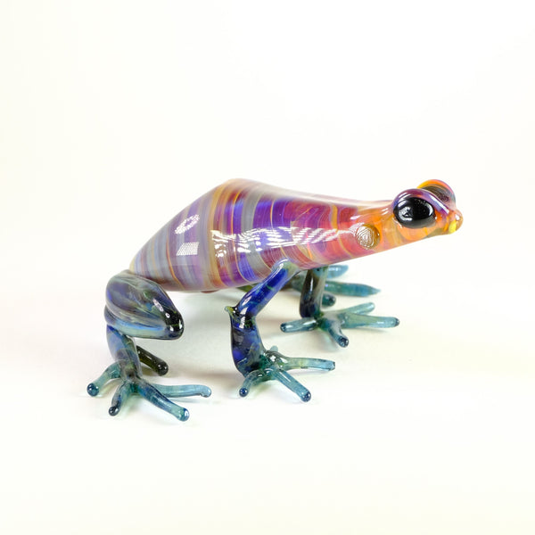 Larger Handmade Glass Frog by Elizabeth Welch.