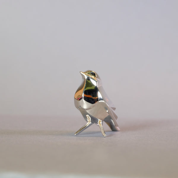 Sterling Silver Mini Robin Sculpture by Nomi Design
