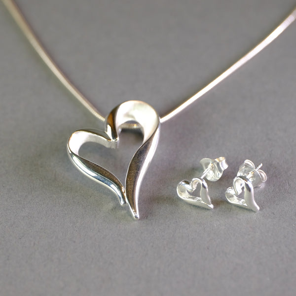 Silver Heart Pendant by LBJ Designs.