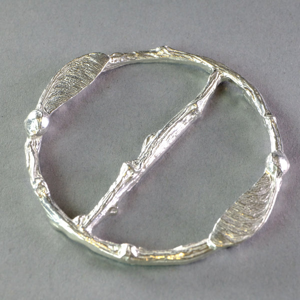Pewter Scarf Ring - Sycamore
