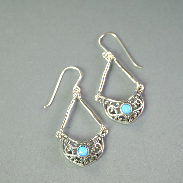 Opal and Silver earrings