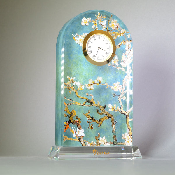 Vincent Van Gogh 'Almond Blossom' Glass Clock