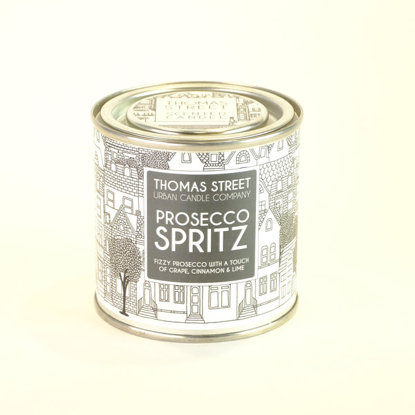 Thomas Street 'Prosecco Spritz' Scented Candle in a Tin.