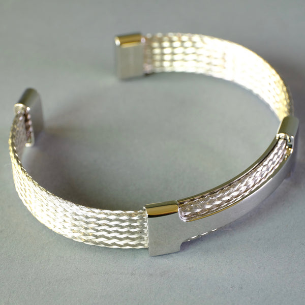 Gents Stainless Steel Bangle Bracelet.