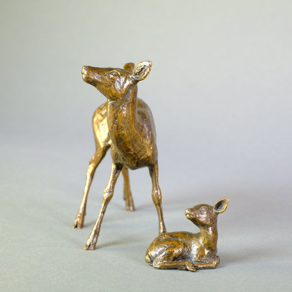 Bronze 'Hind and Fawn' by Michael Simpson
